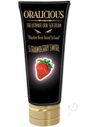 Oralicious Ultimate Oral Sex Cream 2 Ounce Strawberry Swirl