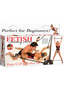Fetish Fantasy Cuff And Tether Set Black