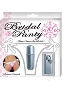 Bridal Panty With Bullet -white