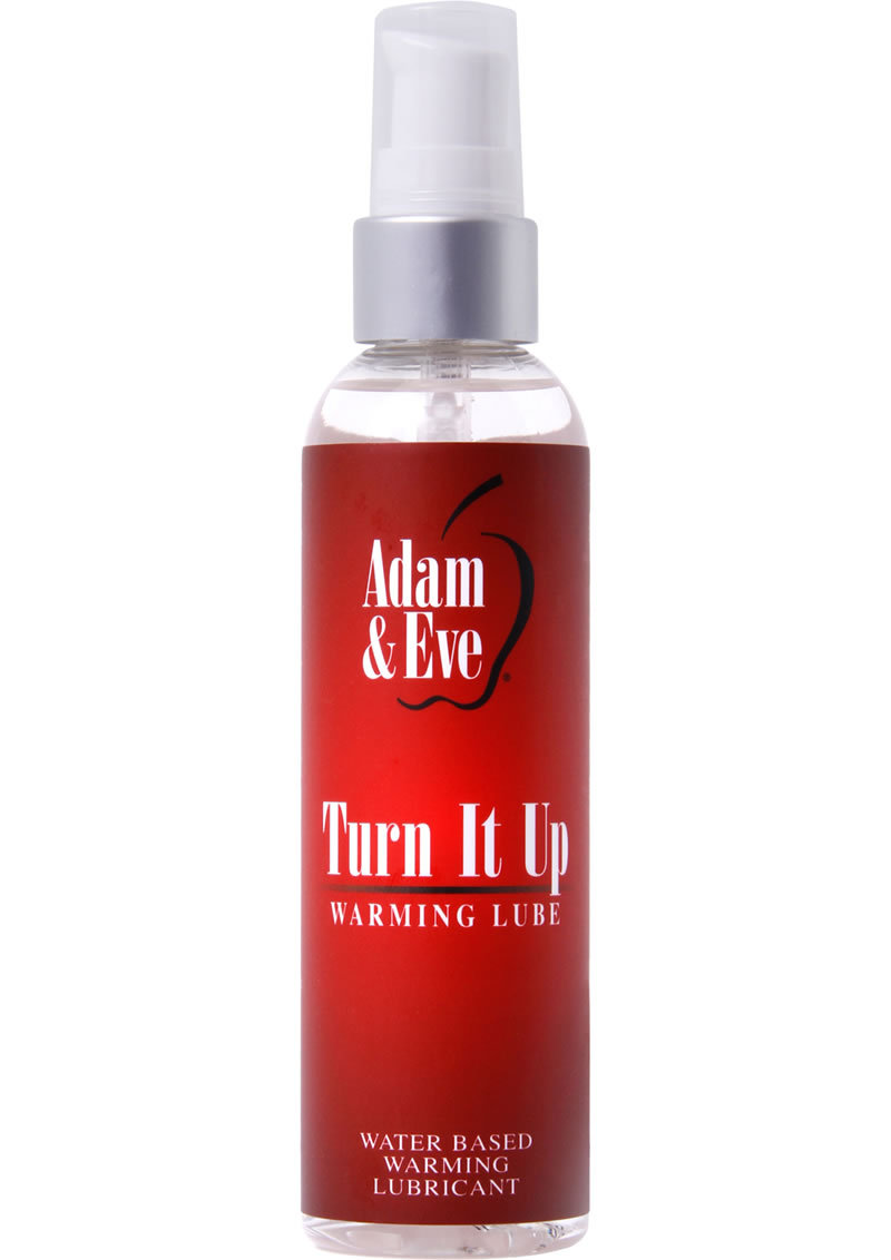 Adam And Eve Turn It Up Water Based Warming Lubricant 4oz