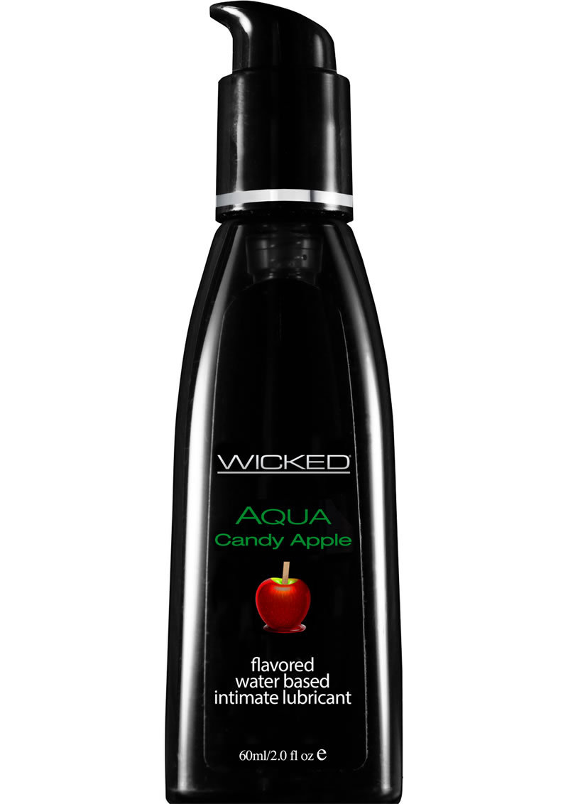 Wicked Aqua Water Based Flavored Lubricant Candy Apple 2oz