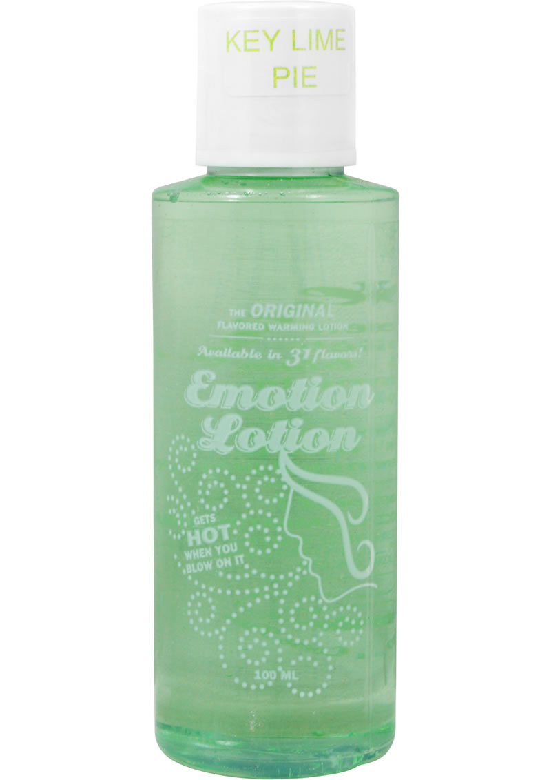 Emotion Lotion Water Based Flavored Warming Lubricant - Key Lime Pie 4oz
