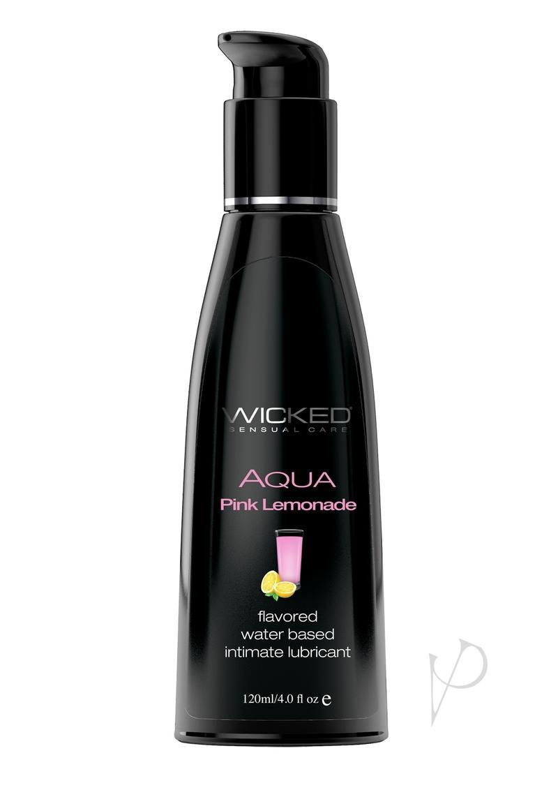Wicked Aqua Water Based Flavored Lubricant Pink Lemonade 4 Oz