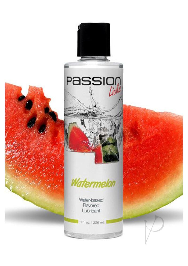 Passion Licks Watermelon Water Based Flavored Lubricant 8oz